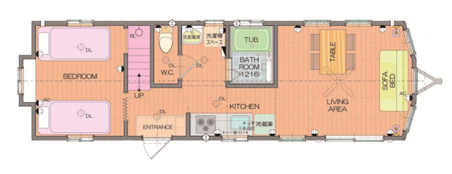 エアコン2台や床暖房、全自動洗濯機等設備充実しています。